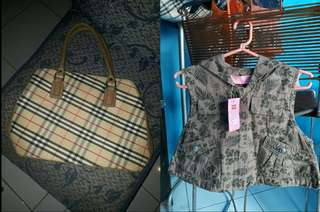 Buy one get one fashion Used burberry bag and New hoodie clothes for Kids.