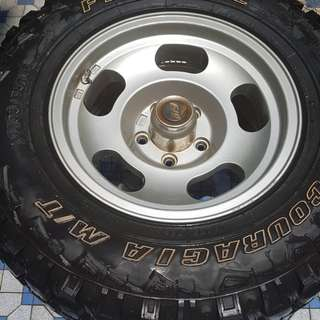 4 off-road ready wheels 15 inch alloy