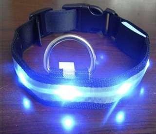 Blue LED Light Nylon Pet Collar