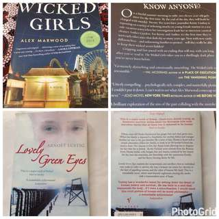 Lovely Green Eyes (Arnost Lustig, RM5) and The Wicked Girls (Alex Marwood, RM7)