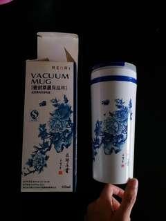 青花瓷圖案密封雙層保溫杯 Vacuum Mug