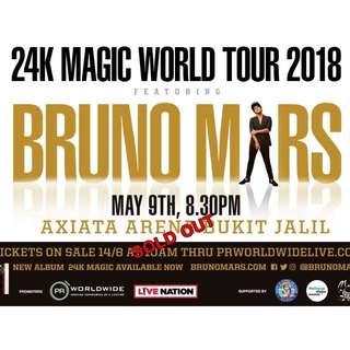 Bruno Mars 2018 Concert - Malaysia