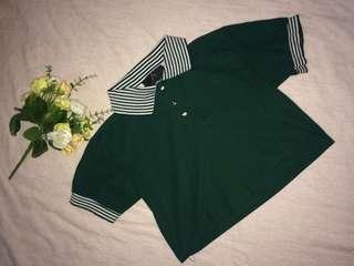 Polo Shirt Crop Top