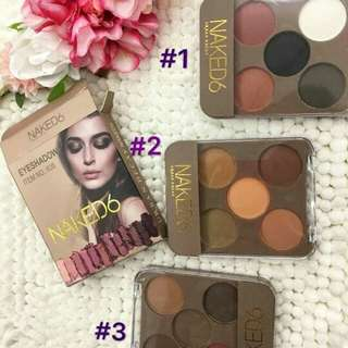 Naked6 Matte 5 colors eyeshadow