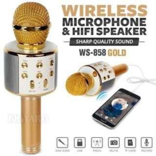 BLUETOOTH MICROPHONE MIC WIRELESS  (Ready Stock) New