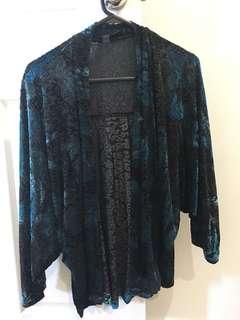 ASOS velvet kimono top