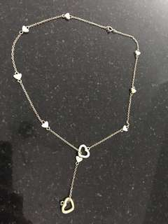 Authentic Tiffany & Co hearts necklace