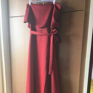 Maroon Sophistique Gown Apartment Eight