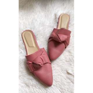 Half shoes mules pointed knot design Item code: c2011