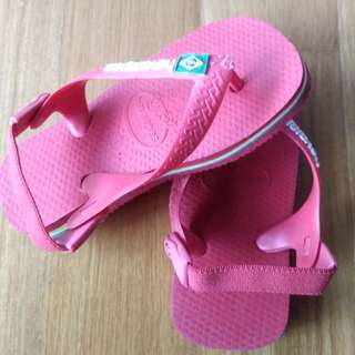 Mothercare havaianas red sandals with back straps