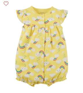 BN Carters Baby Girl Sunshine Yellow Rainbow Romper 6mths & 12mths!