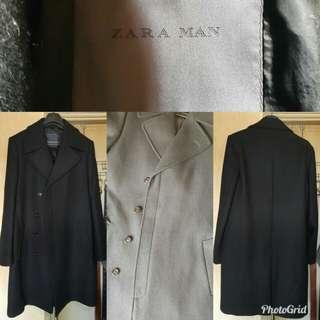 Zara Man 黑色厚大衣 Black Overcoat