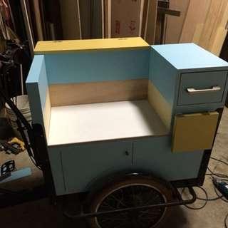 歐式三輪餐車(雞蛋糕.雞蛋仔⋯等攤位類別夜市