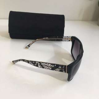 Dolce & Gabbana Black lace detail sunglasses
