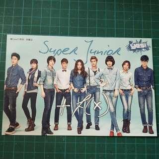 Super Junior ×f(x) Postcard