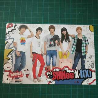SHINEE × f(x) Postcard