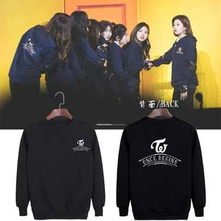 TWICE ONCE BEGINS SWEATSHIRT TWICEINKL