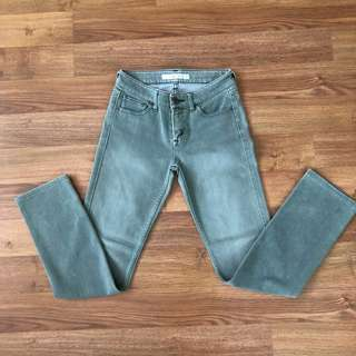 UNIQLO Faded Army Green Pants