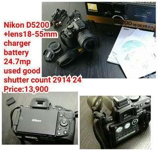 Nikon D5200  +lens18-55mm