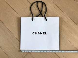 Chanel Paper Bag - white