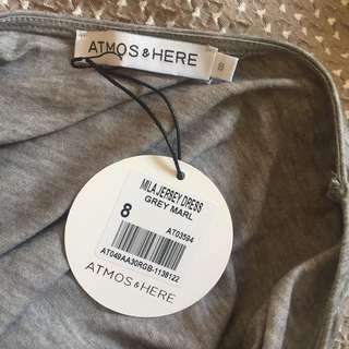 (8) Atmos&here grey marble tee dress BNWT