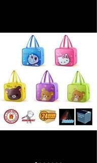 Thermal cooler bag design 2 hello kitty/ rillakuma/ doraemon