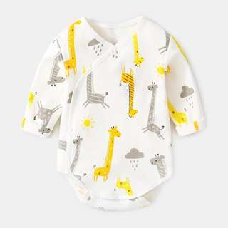 Giraffe Prints Long Sleeve Romper/Body Suit