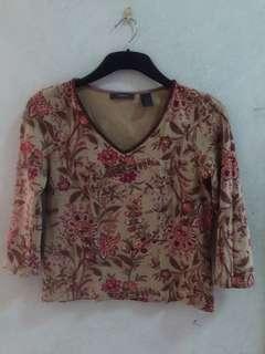 Liz Claiborne 3/4 Sleeve Shirt