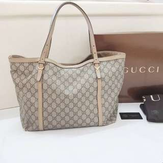 e38315842a1a4b Gucci Authentic GG Supreme Canvas Tote bag original tas asli