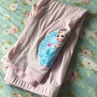 🚚 二手韓國帶回💟女童愛紗七分棉褲粉色11號