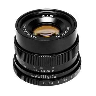 7 Artisans 35mm f2.0 for (E-Mount, EOS-M Mount). 12 Month Warranty from Original Supplier