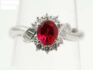 红宝石钻石铂金戒指