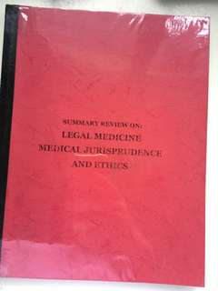 legal medicine and jurisprudence and ethics