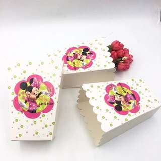 💕Minnie Party Supplies - popcorn boxes / party treat boxes
