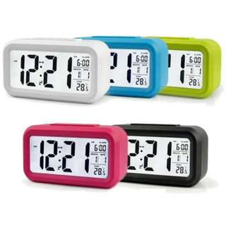 FREE POS Ready Stock LCD LED Digital Alarm Clock Temperature Calendar Auto Night Sensor
