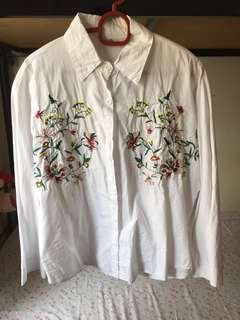 Embroidery loose blouse (included postage)