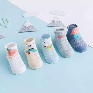 Ocean Blue Baby Socks