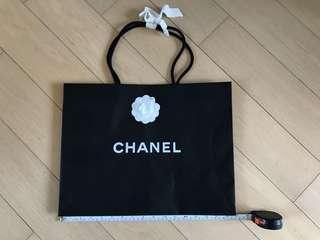 Chanel Paper Bag - medium black