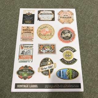 A70 Vintage Label- Luggage/ notebook/ guitar / laptop stickers