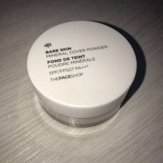 THEFACESHOP Bare Skin Mineral Cover Powder SPF27 PA++