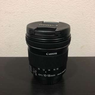 Canon EFS 10-18mm(faulty)