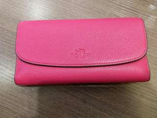 Coach Wallet. Red. New