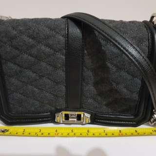 Rebecca Minkoff Love in leather & wool