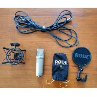 Microphone Condenser Rode NT1-A untuk rekaman