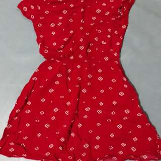 Cotton On Red Patterned Dress