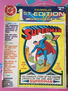 DC Famous 1st Edition Superman(1979) Treasury Edition