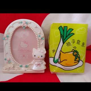1998年 Hello Kitty 日版 Sanrio 陶瓷相架 photo frame