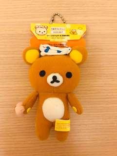 🚚 日本帶回~超可愛溫泉布丁熊 限定版 療癒 可愛 吊飾 全新