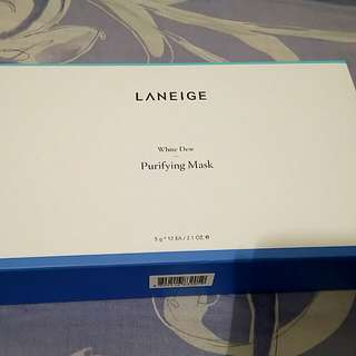 🈹🈹 laneige white dew purifying mask 5g x 12 (1box)