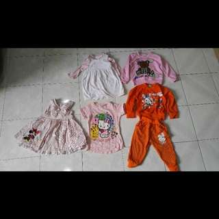 Assorted Lovely Clothing for Toddler Girl